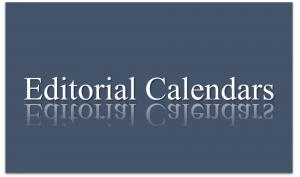 Samples of editorial calendars