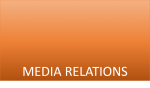 Ideas for creating a media relations plan for 2016
