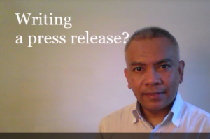 [Video] What you should focus on in writing a press release